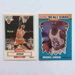 Other - Michael Jordan Fleer 1990 2 cards